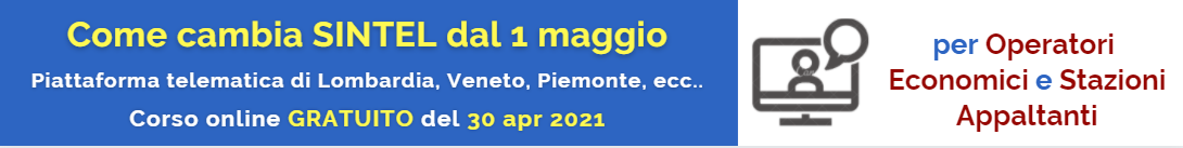 Corso Novita Sintel 2021